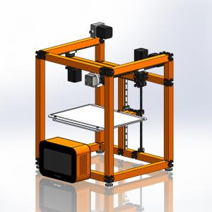 UberBlox™ FDM 3D Printer (Cartesian) with Standalone Touchscreen Controller K3011-2x